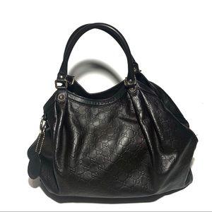Gucci Guccisima Sukey Large Leather Tote Brown